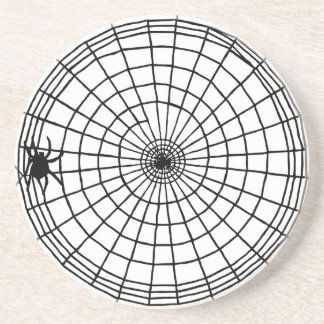 Square Spider Web, Scary Halloween Design Coaster