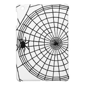 Square Spider Web, Scary Halloween Design iPad Mini Cases