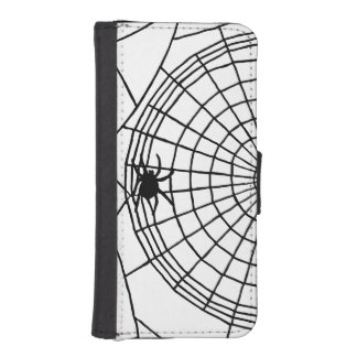 Square Spider Web, Scary Halloween Design iPhone SE/5/5s Wallet Case