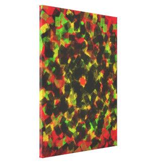 square sponge pattern canvas print
