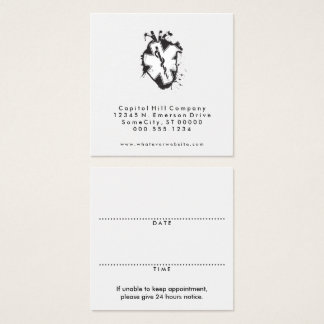 square star of life heart appointment reminder square business card