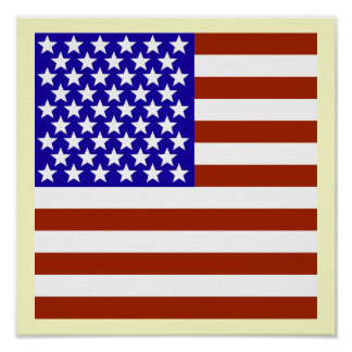 Square Stars and Stripes Poster