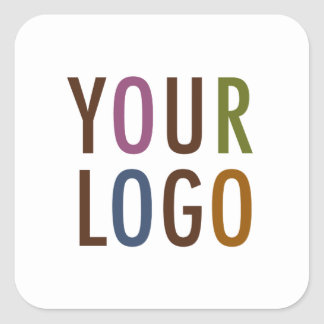 """Square Stickers 3"""" Custom Product Label with Logo"""
