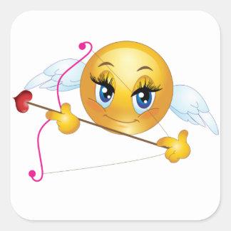 Square Stickers/Cupid Emoticon Square Sticker