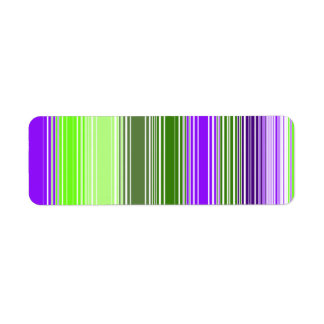 Square Stripe No. 2 Return Address Label