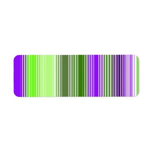 Square Stripe No. 2 Return Address Label