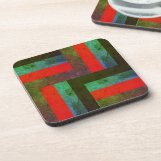 Square stripes marble stone deep look coaster