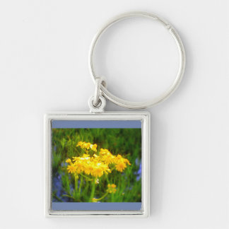 Square Sunflower Water Reflection Keychain