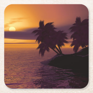 square sunrise coasters