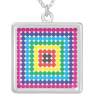 square swatch square pendant necklace