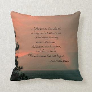 Square Throw Pillow Apache Blessing Light Beam
