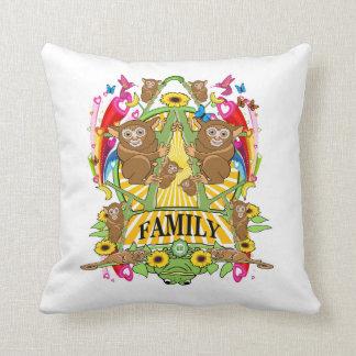 Square Throw Pillow Munchi Power! KOALA FAMILY