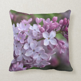 Square Throw Pillow with Lilac Design