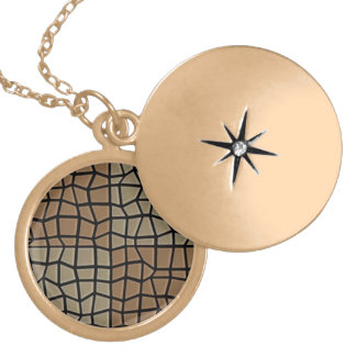 Square tile mosaic pattern personalized necklace