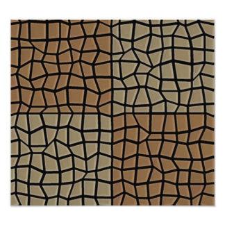 Square tile mosaic pattern photograph