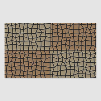 Square tile mosaic pattern rectangular sticker