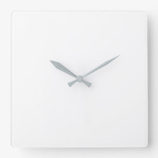 Square Wall Clock - Grey Hands