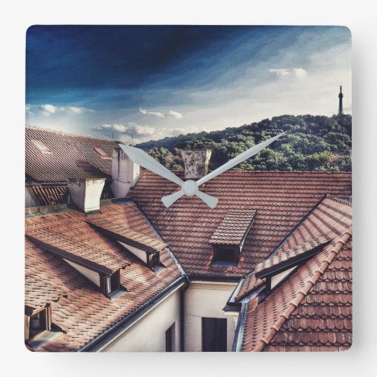 Square wall clock - Roof