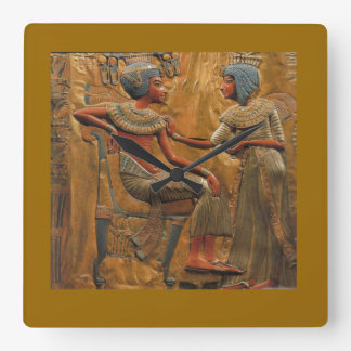 Square wallclock with Egyptian Scene