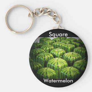 Square Watermelon Key Ring
