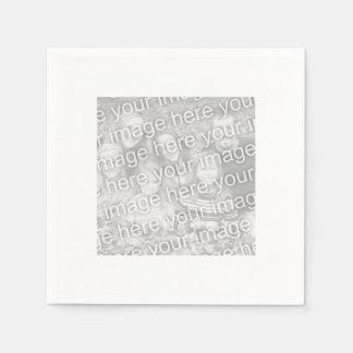 Square White Bordered Photo Disposable Napkin