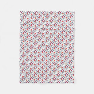 Square With Geometric Shapes - Abstract Pattern Fleece Blanket
