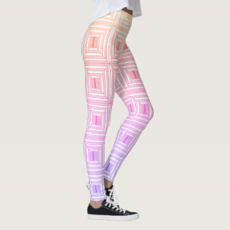Square with pastels. leggings