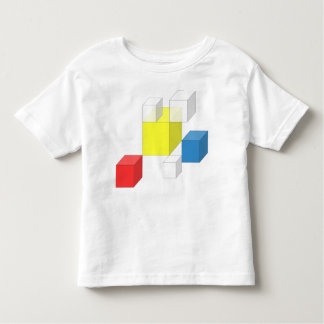 Square Yellow Box Toddler Jersey Kid T-Shirt