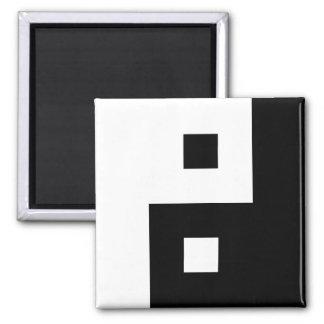 Square Yin Yang Square Magnet