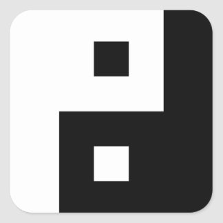 Square Yin Yang Square Sticker