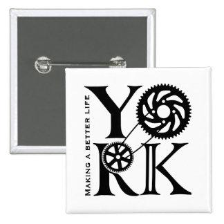 Square York Logo Pin