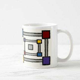 Squared (alternate) basic white mug