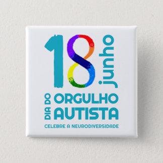 Squared Bóton Autista Pride 15 Cm Square Badge