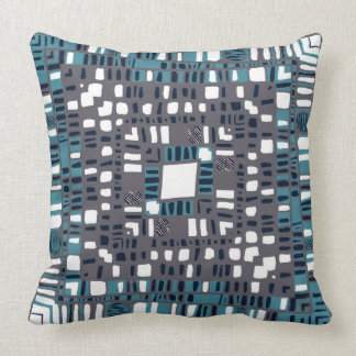 Squared layers teal and pink cushion