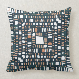 Squared layers terracotta cushion