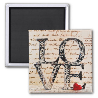 "Squared magnet ""LOVE """