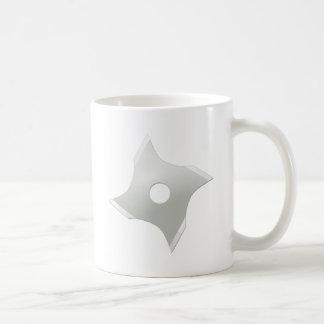 Squared ninja star basic white mug