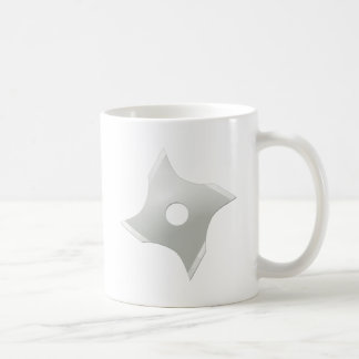 Squared ninja star coffee mug
