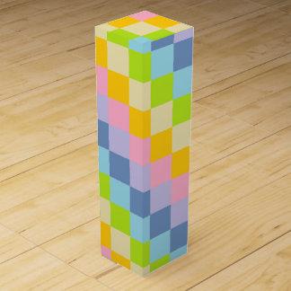 Squared Pastel Rainbow Wine Gift Box