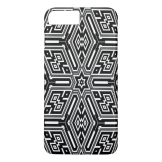squared pattern black and white iPhone 7 case