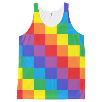 Squared Rainbow All-Over Print Tank Top