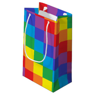 Squared Rainbow Small Gift Bag