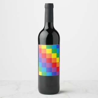 Squared Rainbow Wine Label