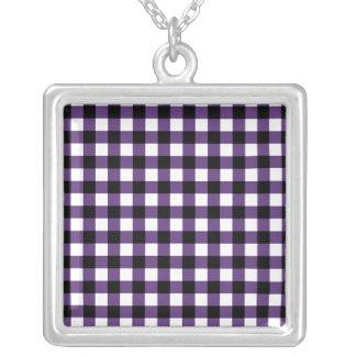Squared Square Pendant Necklace