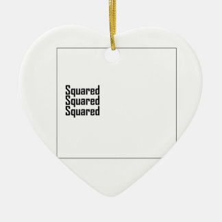 Squared Squared Squared Christmas Ornament