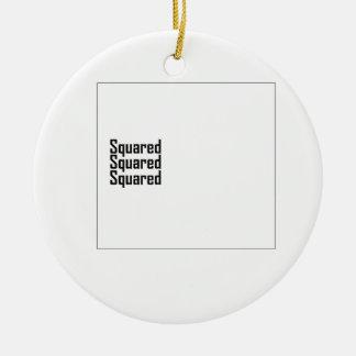 Squared Squared Squared Round Ceramic Decoration
