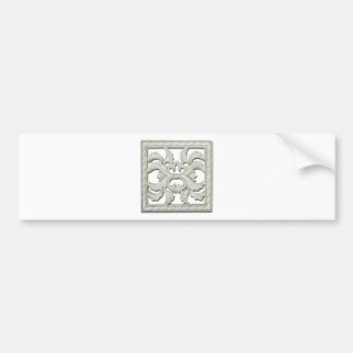 SquareDecorativeTile112810 Bumper Sticker