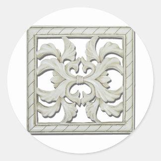 SquareDecorativeTile112810 Classic Round Sticker