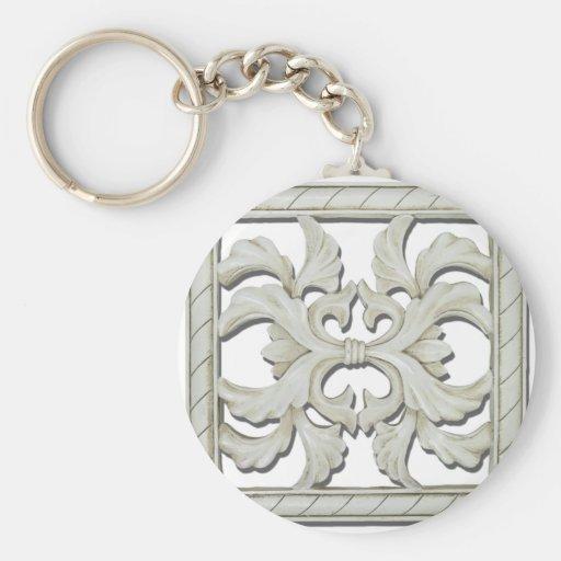 SquareDecorativeTile112810 Key Chain