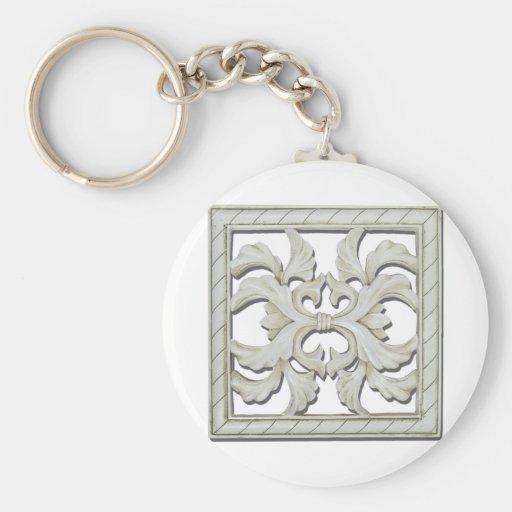 SquareDecorativeTile112810 Keychain